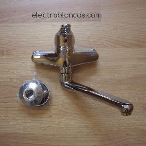 grifo monomando fregadero caño fundido salida baja cromado - electroblancas