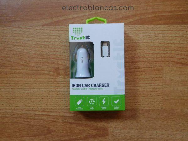 cargador coche iphone 5, 5S, 6 y 7 EDM - electroblancas