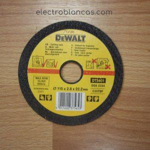 disco corte piedra DE WALT DT3401 - electroblancas
