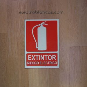 placa termo luminiscente extintor riesgo electrico - ref. 98392 - electroblancas