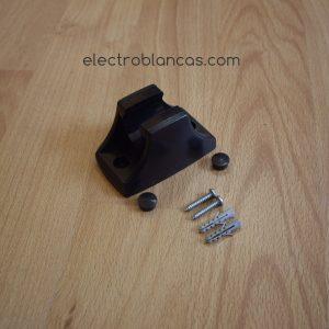 soporte plástico ducha negro ref. 00108 - electroblancas