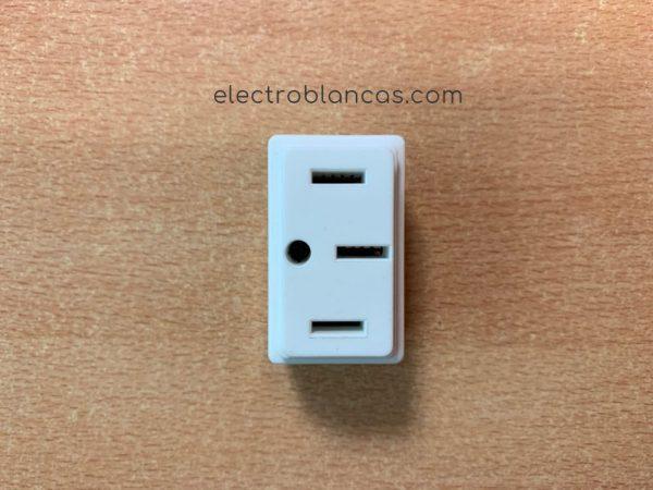 base enchufe metropoli 3p+t - electroblancas