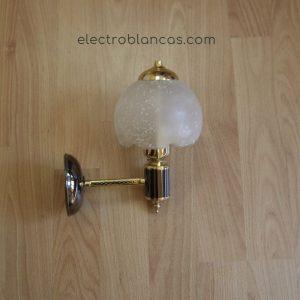 aplique mural 1 brazo oro grafito ref. 00182 - electroblancas
