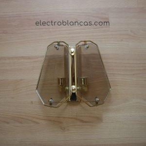 aplique muraL- 2xE14 - oro fumé ref. 00180 - electroblancas